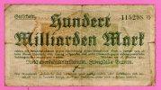 Notgeld 100.000.000.000 Mark Deutsche Reichsbahn Bayern 1923 / Railways Reich Bavaria- ALEMANIA GERMANY DEUTSCHLAND - [11] Local Banknote Issues
