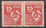 AND58-A123TES-CG. Andorre Espagnol.Andorra Español.1948/53. (Ed 58**par) Sin Charnela.MUY BONITO - Sellos
