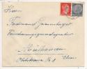 V885 - VOLKENSBERG - 1942 - FOLGENSBOURG - Mixte Timbres HITLER / HINDENBURG - - Postmark Collection (Covers)