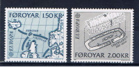 DK+ F Färöer 1982 Mi 70-71 Mnh EUROPA - Féroé (Iles)
