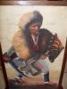 Art,afrique,peinture, Toile De Peau,guerrier,soldat Ethiopien,ethiopie,cape,p Eau De Lion,bouclier,sabre Gouradé,coiffe - Oils