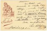 SUISSE Entier Postal Avec Publicité Chocolat Suchard Rossinières 1911 - Alimentation
