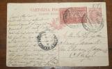 ITALIA 1919 -  CARTOLINA POSTALE ITALIANA  CENT 10 DEL 1906  CON ESPRESSO CENT 25 DEL 1903 - Marcophilie