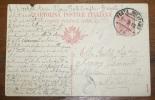 ITALIA 1918  CARTOLINA POSTALE ITALIANA CHIARO ANNULLO DI POSTA MILITARE - 1900-44 Vittorio Emanuele III