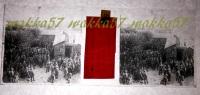 $3B7- WWI - Casa Del Soldato Aquileia Bicchierata Alla Cavalleria Appi? Aprile 1916 - Vera Diapositiva Stereo - Diapositiva Su Vetro
