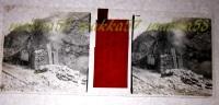 $3B8- WWI - Scoppio Di Mine Per Costruzione Di Caverne Monfalcone Gorizia - Vera Diapositiva Stereo In Vetro - Diapositiva Su Vetro