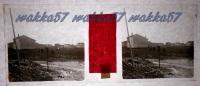 $3B9- WWI - Sua Maestà Il Re E G.le Brusati Presso Monfalcone Gorizia - Vera Diapositiva Stereo In Vetro - Diapositiva Su Vetro