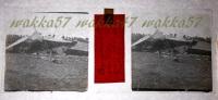 $3B13- WWI - Aeroplano Austriaco Abbattuto Presso Perteole Ruda Udine Aprile 1916 - Vera Diapositiva Stereo In Vetro - Diapositiva Su Vetro