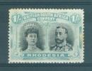 BSAC - Rhodesia: 1910/13   Double-Head      SG152    1/-    Black & Pale Blue-green    MH - Great Britain (former Colonies & Protectorates)