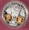 NEDERLAND ZILVEREN PENNING 1400 JAAR  MUNTGESCHIEDENIS + GOLDPLATED INLAY WILLEM I - Royaux/De Noblesse