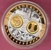 NEDERLAND ZILVEREN  PENNING EUROPA + GOLDPLATED INLAY+ RING -  BEATRIX & MAXIMA/WILLEM-ALEXANDER - Royal/Of Nobility
