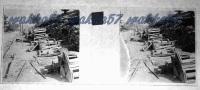 $3C6- WWI - Deposito Di Bombarde Presso Peteano (Sagrado Gorizia) Avanzata 1916- Vera Diapositiva Stero In Vetro - Diapositiva Su Vetro