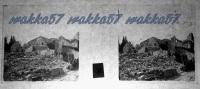 $3C7- WWI - Case Di Begliano (San Canzian D´isonzo Gorizia) Distrutte Dall´artiglieria Nemica  Febbraio 1916 - Diapositiva Su Vetro