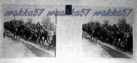 $3C9- WWI - Prigionieri Austriaci Conferiti Al Posto Di Concentramento Fra Truppe Di Cavalleria - Diapositiva Su Vetro