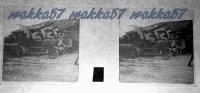 $3C11- WWI - Cannoni Automobili Contro Aerei - Vera Diapositiva Stereoscopica In Vetro - Unica - Diapositiva Su Vetro