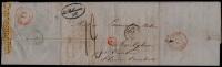 """PIECE UNIQUE !FACTURE VIN MEDOC BORDEAUX BETHMANN LAC 1846 BORDEAUX - GRIFFE ROUGE """" 9R """" PARIS MOUSCRON AVELGHEM - WINE - Documentos Históricos"""
