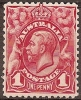 AUSTRALIA - 1913 1d Engraved King George V. Scott 17. Mint Hinged * - Mint Stamps
