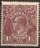 AUSTRALIA - 1918 1½d King George V - Single Watermark (wmk 9). Scott 24a. Mint Hinged * - Mint Stamps