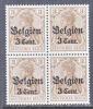 German Occupation Belgium N 11 X 4   **  * - Occupation 1914-18