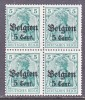 German Occupation Belgium N 12 X 4   **  * - Occupation 1914-18