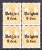 German Occupation Belgium N 13 X 4   **  * - Occupation 1914-18