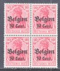 German Occupation Belgium N 14 X 4   **  * - Occupation 1914-18