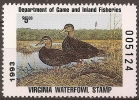 UNITED STATES -  1992  Virginia Duck Hunting Stamp. MNH **   005124 - Duck Stamps