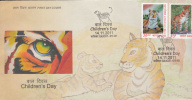 INDIA- 2011- Bengal Tiger- Children's Day- FDC - FDC