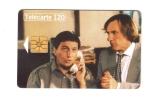 """Carte Télécarte  """"  Téléphone Et Cinéma - Clavier / Depardieu  """" - Personnages"""