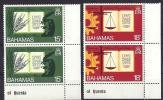 Bahamas, Year 1974, Mi 364-365 (2x) With Sheet Margin 25th Anniversary University, MNH ** - Bahama's (1973-...)