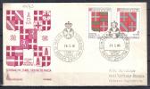 VER1472 - S.M.O.M. 1974 , Stemmi Serie Nn Completa Su Fdc (n. 175+179) - Malte (Ordre De)