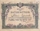 Ancien BILLET DE SATISFACTION   ANNEE 1953 12x9 Cms - Diplômes & Bulletins Scolaires
