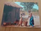 """CPSM """"AFRIQUE EN COULEURS"""" Préparation Du Repas N° 7622 - Cartes Postales"""