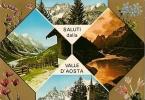 AOSTA - SALUTI DALLA VAL D´AOSTA VEDUTINE VG - Aosta