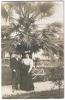 NICE CARTE PHOTO Couple Jardin Hôtel CONTINENTAL 1906 - Parques, Jardines
