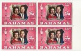 Bahamas, Year 1972, Mi 352, 25th Wedding Anniversary, Block Of 4, MNH** - Bahamas (...-1973)