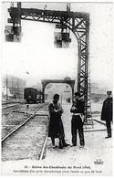 PARIS Grève Cheminots 1910 Sémaphore Gare Du Nord Soldats Policier Wagon état Superbe - Métro Parisien, Gares