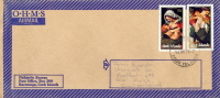 Cook Islands 1972 Cover Air Mail To Switzerland With Virgin And Child By Guercino And Andrea Solario - Madonne