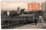 CHERENCE VUE DE L'EGLISE EN ANCIEN PRIEURE ANIMEE ATTELAGE 95 ROCHE-GUYON - Frankrijk