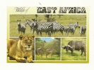 Cp, Animaux, WIldlife Of East Africa, Multi-Vues, écrite - Lions