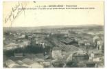 16 - Angoulême Panorama Des Halles Sur Les Gares   Carte Voyagée 1915 - Angouleme