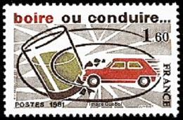 France N° 2159 ** Sécurité Routière - Boisson - Vin - Alcool - Boire Ou Conduire - Auto, Accident - Nuevos