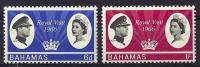 Bahamas, Year 1966, Mi 233-234, Royal Visit, MNH ** - Bahamas (...-1973)