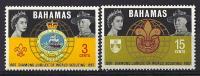 Bahamas, Year 1967, Mi 272-273, Jubilee World Scouting, MNH ** - Bahamas (...-1973)