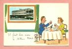 CPSM - 91 - ATHIS MONS - ILLUSTRATEUR JEAN DE PREISSAC - AEROPORT DE PARIS / ORLY   - FORD VEDETTE TAXI / 1958 - Athis Mons