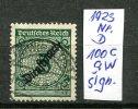 """DR 1923 Mi.Nr.Dienst 100c (aw)sign. Wz. 2"""" Freimarke:Rosettenzeichnung  """"1 Wert Type-Signature  Used-gestempelt - Infla"""