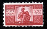 ITALIA REPUBBLICA - ** 1945 DEMOCRATICA 100 L. (565) (913) - 6. 1946-.. Repubblica