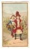 Chromo G. Fessart Liancourt Enfant Fillette Balade Cueillette Vendange Raisin Lith. J. Minot A20-23 - Trade Cards
