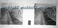 $3E1- WWI - I Due Ponti Di Sagrado - Ponte In Ferro Stabile Distrutto Dal Nemico E Ponte Militare - Diapositiva Su Vetro