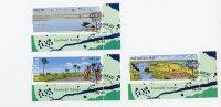 Namibie 2003-Resources En Eau-Pêche,Grues Couronnées-YT 997/9-Oblitération Spéciale-CTO-gomme Neuve - Fische